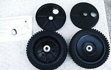 "CRAFTSMAN MOWER GENUINE 8"" OEM SELF PROPEL WHEELS 193144 BEARINGS DUST COVERS"