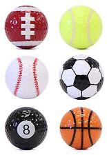 6 Sport Themed Golf Balls (46150)