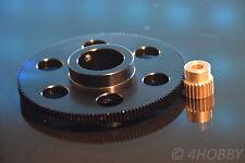 Zahnradpaar: Ritzel + Zahnrad 6 und 24mm Welle Zahnräder Modul 0,6 Antrieb