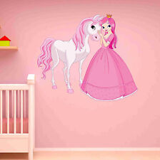 Princess and Horse Wall Decal - Wall Sticker, Home Decor, Wall Mural