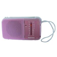 Toshiba TX-PR20 Pink AM/FM Pocket Portable Battery Operated Radio Tuning