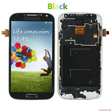 LCD Touch Screen Glass Digitizer Frame Assembly FR Samsung Galaxy S4 I9505 Black