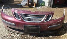 03 04 05 06 Saab 9-3 LINEAR 93 Front Bumper Grille Fog Lights Washers 12786001