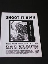 SHOOT IT UP Record Release Handbill for DAS KLOWN Los Angeles