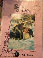 """MILLY MOOSE CRAFT SEWING PS - STITCH'N 11"""" MOOSE MATERIAL LIST AND PATTERN"""