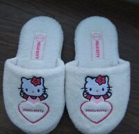 Girls White Hello Kitty Mule Slippers Size UK 12/13 EU 31/32