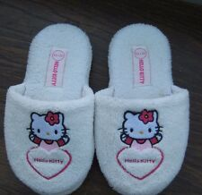 Filles Blanc Hello Kitty Mule Pantoufles Taille UK 12/13 EU 31/32