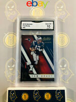 2016 Absolute Tom Brady #42 - 10 GEM MT GMA Graded Patriots Football Card
