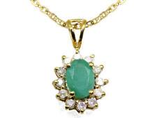 Collares y colgantes de joyería con diamantes en oro amarillo de 14 quilates diamante