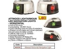 LED PORT AND STARBOARD NAVIGATION LIGHTS  HORIZONTAL MOUNT-  S/STEEL HOUSING