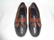 Johnston & Murphy Passport Black/Brown Tassel Loafer Men's Size US 8.5 M