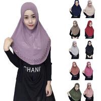 One Piece Amira Women Muslim Hijab Scarf Islamic Headscarf Khimar Prayer Shawls