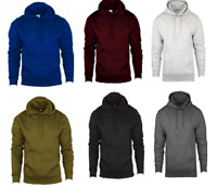 Mens Pullover Hoodie Fleece Sweatshirt Hoody Men Plain Hooded Jumper Top S -2XL