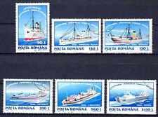 Bateaux Roumanie (55) série complète de 6 timbres oblitérés