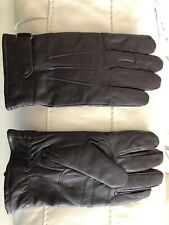 Barbour Men's Leather Gloves - Brown - Size L