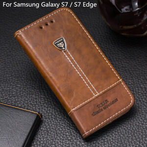 For Samsung Galaxy S7 / S7 Edge Flip Wallet Pu Leather Phone Case Back Cover