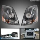 Fit For 04-2018 Volvo VNL Left & Right Side Clear Headlights Headlamps w/ Bulbs