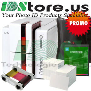 Evolis Primacy Expert Fire Red Single Side Complete Photo ID Card Printer System