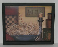 """Primitive Country Antiques candle Checkerboard  9"""" X 11"""" WALL DECOR"""