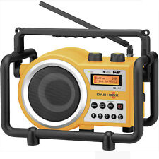 Sangean DAB+ Tough Digital Tradie Radio in Yellow Model DABBOXY