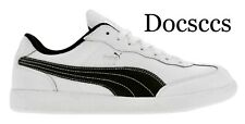 Puma Liga Leather 353149 02 White Black Silver Mens Size 8.5 New in Box