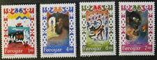 4 Number Danish & Faroese Stamps