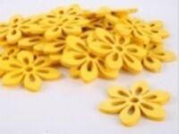 3//3,5//4,5 cm Streumaterial Tischdeko 1 Beutel 12 Stück Blüten Filz hellgrün  D