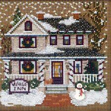 Village Inn Cross Stitch Kit Mill Hill 2013 Buttons & Beads Winter