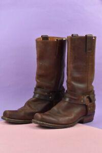 Sendra Vintage Men's Brown Genuine Leather Cowboy Style Boots UK 10 EU 44