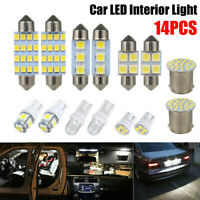 14x Auto Car Interior Package LED Map Dome License Plate Mixed Light Accessories