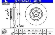 ATE Juego de 2 discos freno Antes 300mm ventilado para FORD VOLVO 24.0125-0162.1