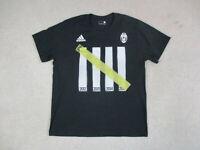 Adidas Juventus Shirt Adult Large Black Yellow Soccer Futbol Football Mens *