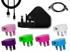 Mains Charger USB Wall Plug Data Cable Type C Compatible For Android Phones