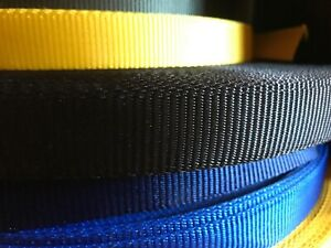 "1"" / 25mm Nylon Webbing - 1, 5 or 10 metre lengths - Various Colours"