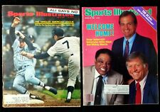 New listing Lot (2) 1967 1985 Mickey Mantle Sports  Illustrated owned by Furman Bisher EXMT+