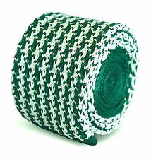 Frederick Thomas tricoté mince vert et blanc dents de chien cravate hommes