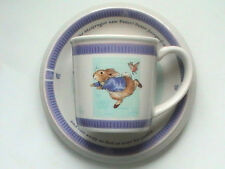 PETER RABBIT TEA CUP AND PLATE, BEATRIX POTTER WEDGEWOOD POTTERY 2001 16+YEARS