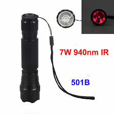 940nm 501B Infrared Radiation IR LED Night Vision Flashlight Torch Hunting Light