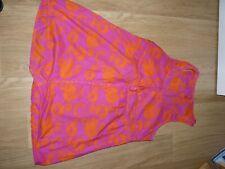 Robe tunique colorée Fuschia et orange Miss Captain taille 44