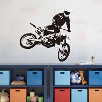 Motocross Heels Motorcycle Wall Sticker Kids Boys Room Vinyl Mural Wall Decals