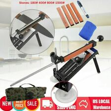 New listing Pro Knife Sharpener Kitchen Sharpening System Fix-Angle With 4 Sharpening Stones