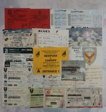 NEWPORT v CARDIFF & BLUES v DRAGONS RUGBY TICKETS 1987 - 2014 GROUP of 19