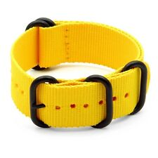 StrapsCo Nylon Military Watch Strap Band w/ Heavy Duty Matte Black Rings
