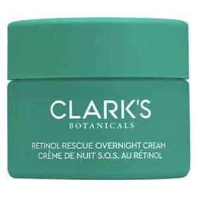 clarks botanicals retinol rwscue overnight cream nib new sealed