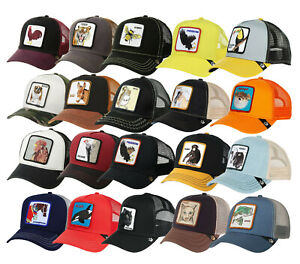 Goorin Bros Animal Farm Trucker Hat Snapback Mesh Cap Tiger Rooster Freedom Tuna