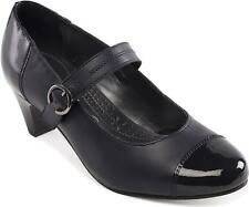 Padders Jean Womens Mary Jane Style Court Shoes 6 Navy Combi