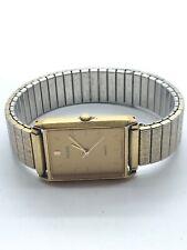 Pulsar Mens Stainless Steel Gold Tone Quartz Watch 972172