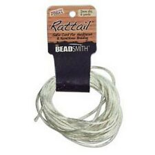 6 Yards 1MM RATTAIL IVORY (Free Shipping)