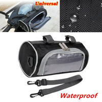 Waterproof Motorcycle Handlebar Bag Fork Storage Shoulder Pack with Phone Case