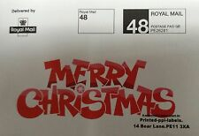 400 ROYAL MAIL 24 or 48 PPI Labels & Return Address Full Colour Marketing labels